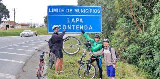 O cerco da Lapa Paraná de bike